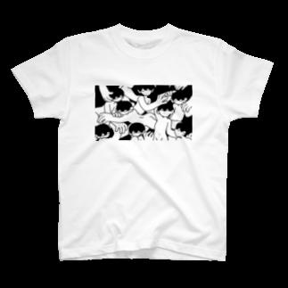 偶象崇拝のからまる T-shirts
