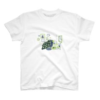 ひとねこ「夜ふかしねこ」 T-shirts