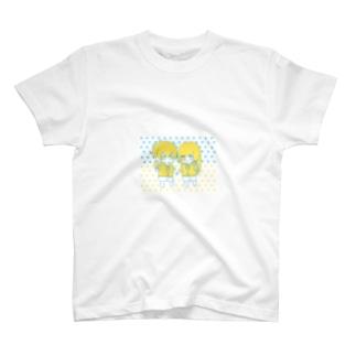 無気力カップル-SUMMER- (青×黄) T-shirts