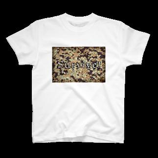 刻々珈琲のコーヒー豆迷彩<英語> T-shirts