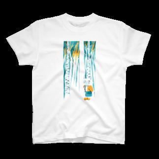 BENIBARAのひとねこ「森林のねこ」 T-shirts
