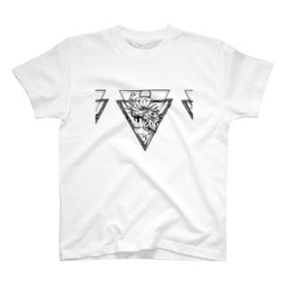 タトゥー風 花 T-shirts