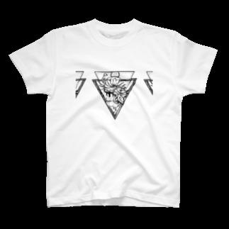 Yuzuriha so_のタトゥー風 花 T-shirts