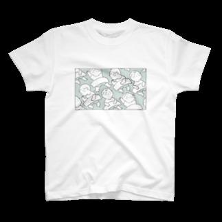 煮つめた小豆のおひるねどき T-shirts