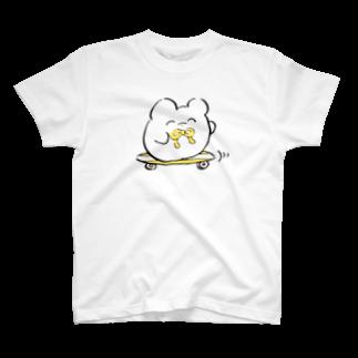 チビホゲとポーちゃん suzuriのお店のスケボーチビホゲ T-shirts