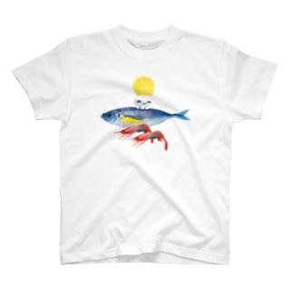 海のお友達とくらげ T-shirts