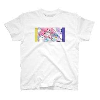 怒りと嘆きの楽園-yellow×violet T-shirts
