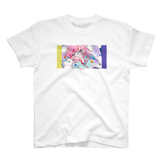きゃらあいの怒りと嘆きの楽園-yellow×violet T-shirts