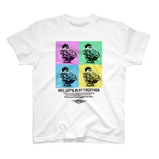 """""""すずめのおみせ"""" SUZURI店のスズメのおチリ(ポップアート風) T-Shirt"""