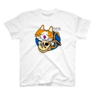 ウード猫Tシャツ T-shirts