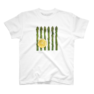 オハデザインのアスパラガスとレモン T-shirts