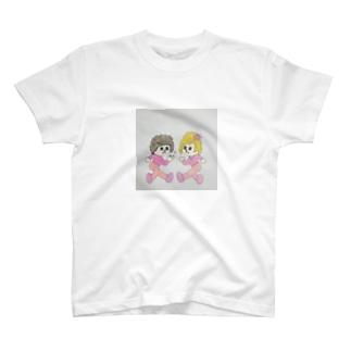 飛び出しペーパー夫妻 T-shirts