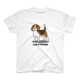 ビーグル(両面) T-shirts