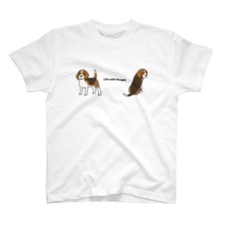 ビーグル3 T-shirts