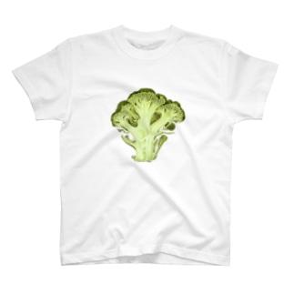 ブロッコリーの断面 T-shirts