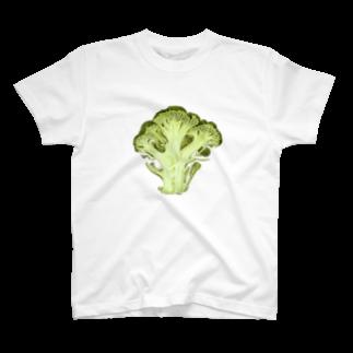 オハデザインのブロッコリーの断面 T-shirts