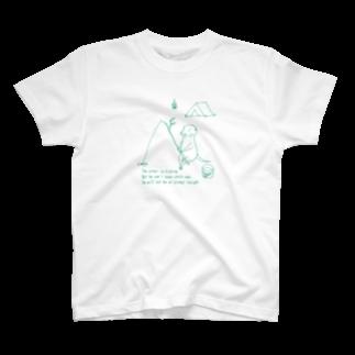 Come  come  こめくるのカワウソキャンプ 釣り T-shirts