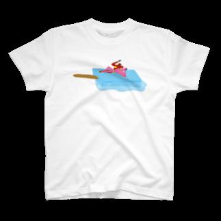 明季 aki_ishibashiのアイスべき女たち T-shirts