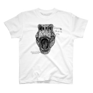 ティラノサウルス(黒) T-shirts