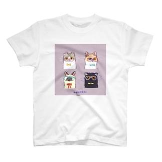 たたメーピー 〈めがねcats〉 T-shirts