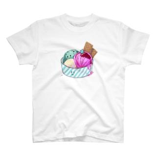 うわわさんinアイスクリーム T-shirts