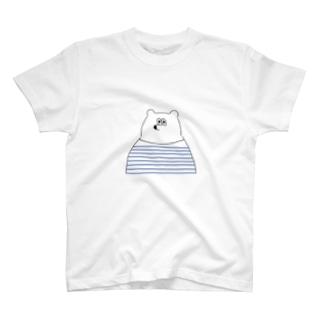 ボーダーしろくま T-shirts