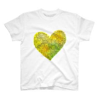 Yellow Heart  T-shirts