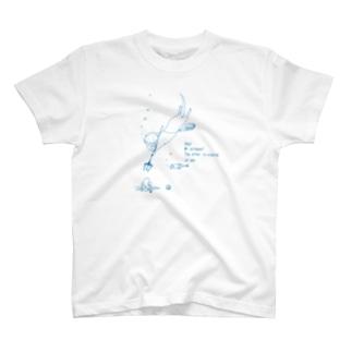 カワウソキャンプ 素潜り T-shirts