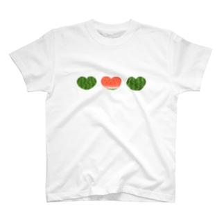 スイカなハート T-shirts