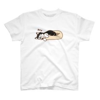 はみ出し寝 T-shirts