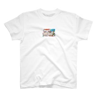 公園の羊 T-shirts