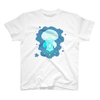 ドット きのこくらげ2 T-shirts