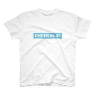 UNDER BLUEボックスロゴ T-shirts