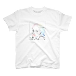 飴をなめる女 T-shirts