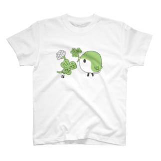 クローバーと ことりTシャツ T-shirts