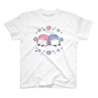 アネモネと ことりTシャツ T-shirts