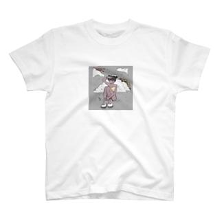ギンガムチェックのおんな T-shirts