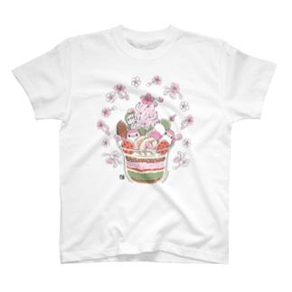 ことりの桜パフェ Tシャツ T-shirts