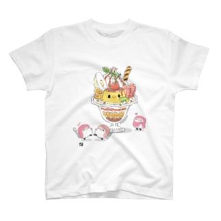 ことりのプリンパフェ Tシャツ T-shirts