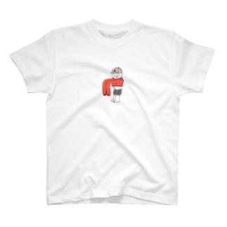 そで伸びてすそ縮む T-shirts