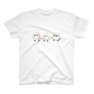 おばけまるさんかくしかく T-shirts
