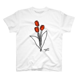 ナガキパーマのチューリップ T-shirts