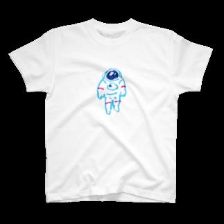 BASSHIの宇宙服の人(カラー) T-shirts