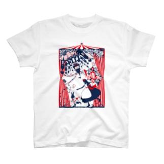 Cɐkeccooの思議の国のアリス-シルエット-物語の開幕-カラー T-shirts