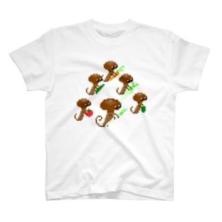 ドット きのくらげの友達 T-shirts