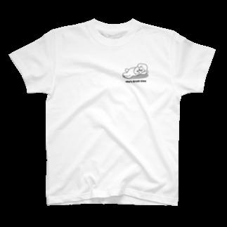 efrinmanのトイプー 2 白系(ワンポイント) T-shirts