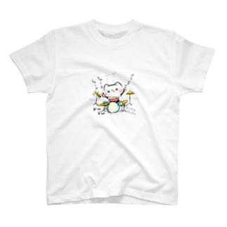 ドラム(ましまろう) T-shirts