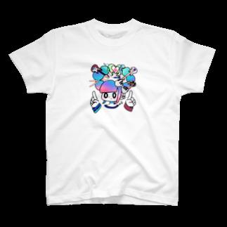 矢島ロパのしょっぷのI LOVE MUSIC! T-shirts