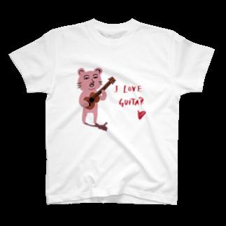 TACAのグッズ売り場のピン君 I LOVE GUITAR T-shirts