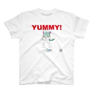 ★いろえんぴつ★のねこさんとおさかなさん T-shirts